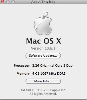 MacBook Pro Spec