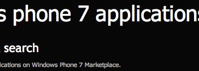 windows phone 7, marketplace