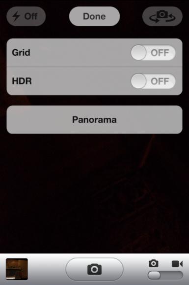 パノラマ,iOS 5