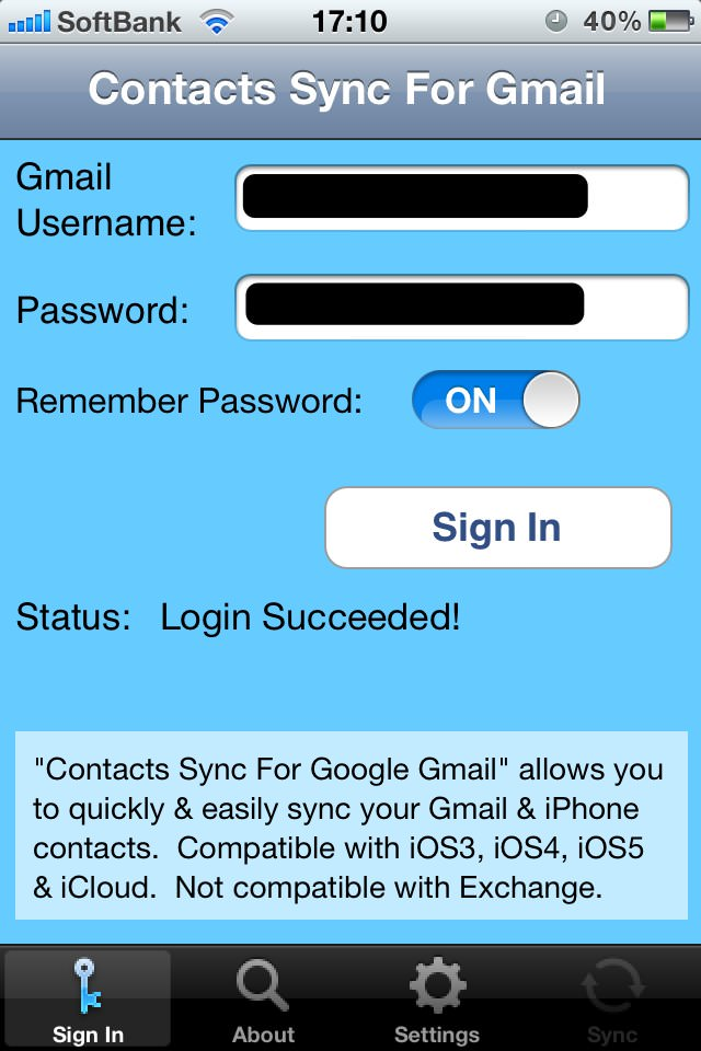 contacts sync