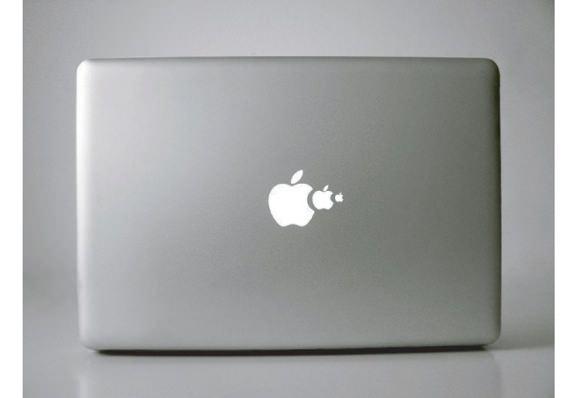 Mac 背面 リンゴ