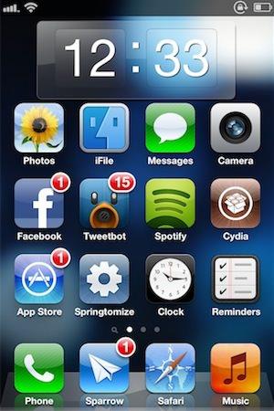 Clock Widget, Dashboard X
