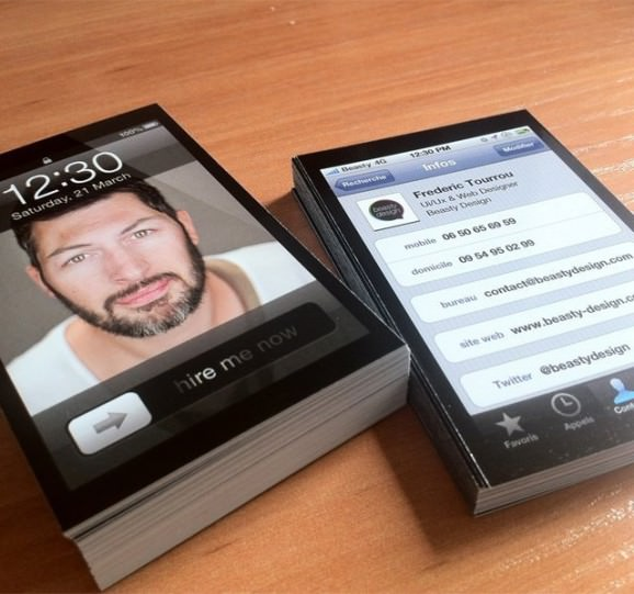 iphone 名刺