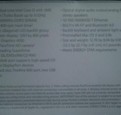 macbook pro 13インチ 2012