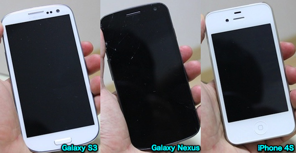 iphone 4s galaxy s3