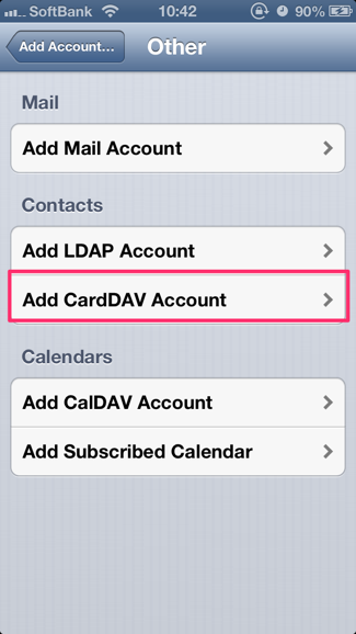 carddav iphone