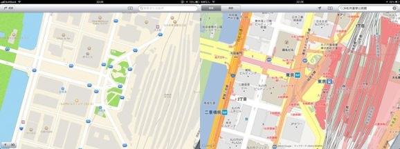 iOS 6 地図アプリ