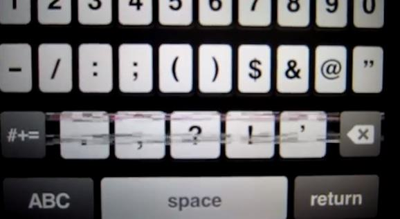 iPhone 5 キーボード ノイズ