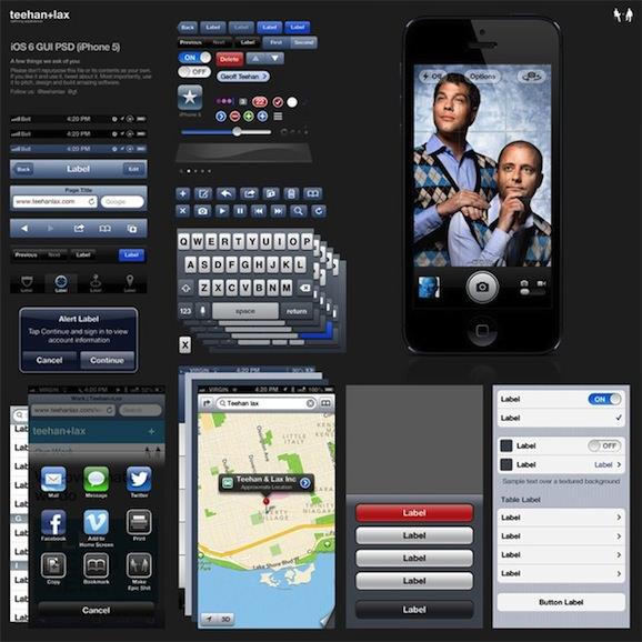 iphone 5 ios6 gui psd