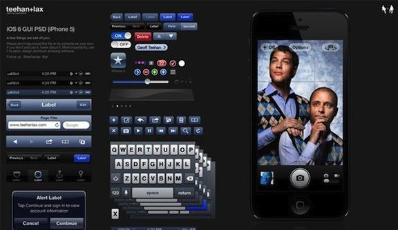 iphone 5 ios 6 psd