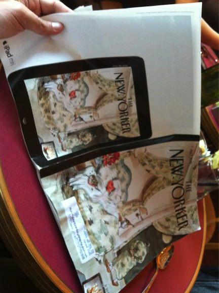 iPad mini 新聞広告