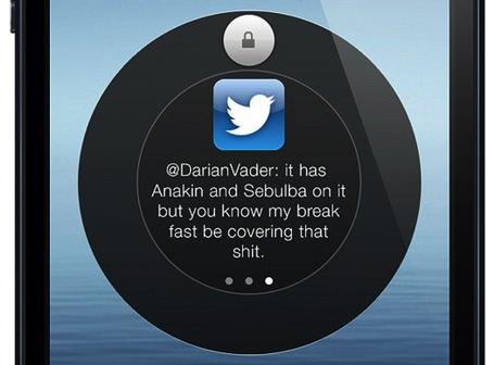 iOS 7 ロックスクリーン コンセプト