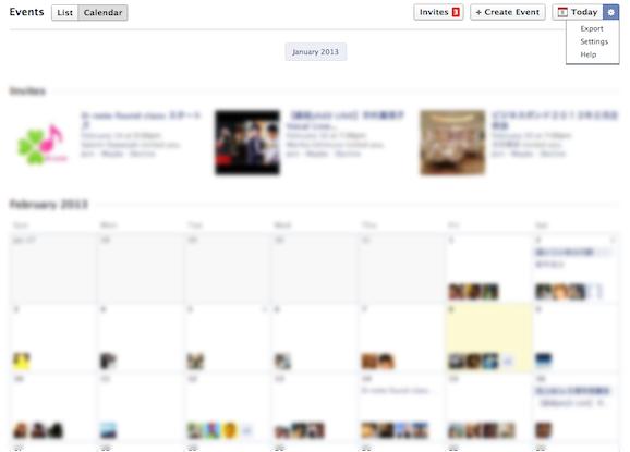 Facebook イベント