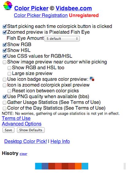 Color Picker Google Chrome