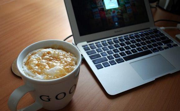 Macbook air coffee