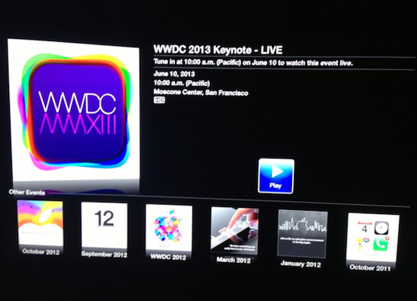 Apple tv livestreaming wwdc2013
