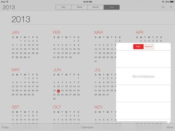 iPad/iPad miniが動作中の「iOS 7 beta 2」