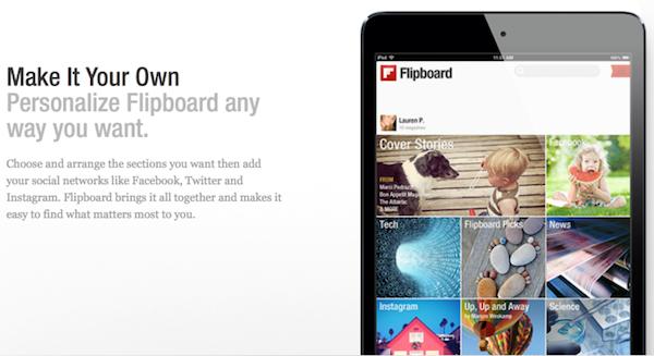 Flipboard風UIを持つFacebookのリーダー機能