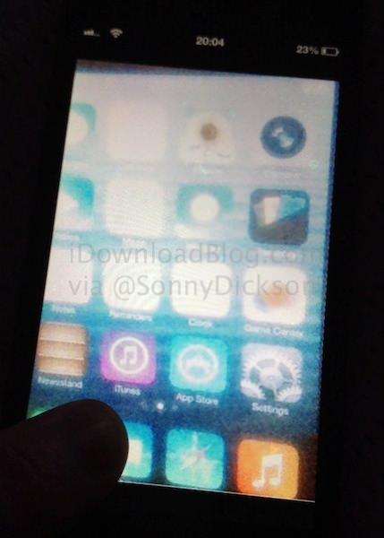 iOS 7のリーク写真