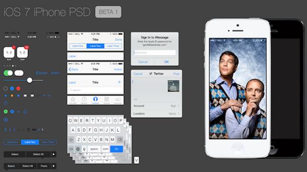 iOS7のPSDファイル