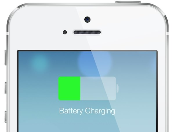 iOS7 battery charging