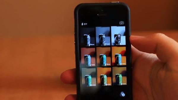 iOS7 camera app