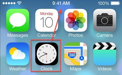 iOS 7 clock realtime