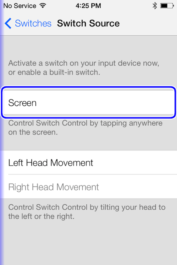 Ios7 head movement