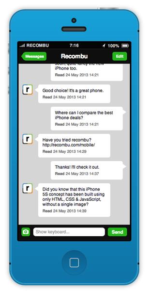 HTML/CSS/Javascriptのみで作られた「iOS 7」が動作する「iPhone 5s」