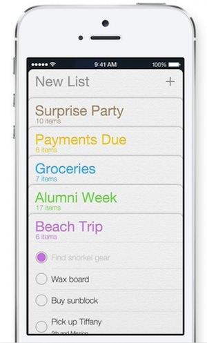 iOS 7のスクリーンショット
