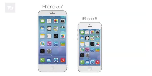 iPhone 5.7インチのコンセプトいイメージ