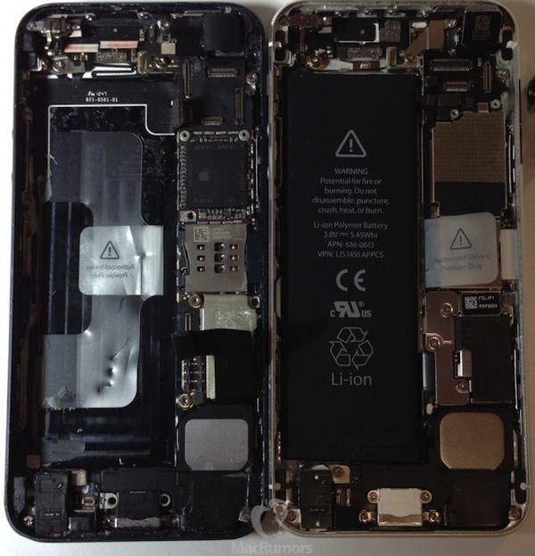 iPhone 5sとiPhone 5の比較