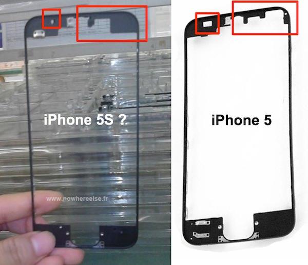 iPhone 5sのベゼルフレームがリーク