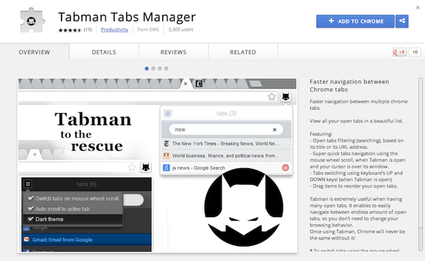 Tabman Tabs Manager
