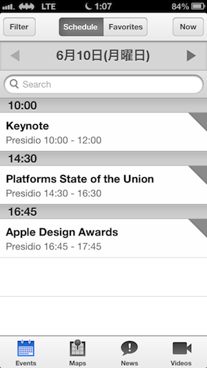 WWDC2013専用アプリ「WWDC」