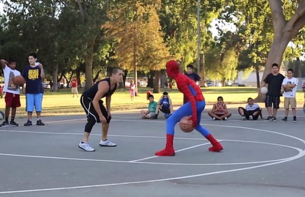 バスケットボールがやたらとうまいスパイダーマン