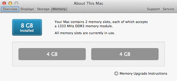 About this mac memory slots