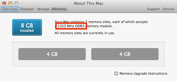About this mac memory type