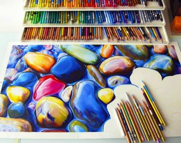色鉛筆の凄すぎる絵
