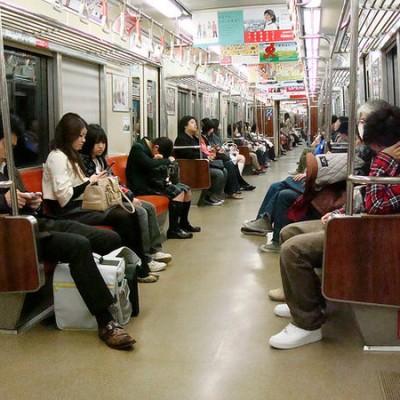 福岡の地下鉄の中