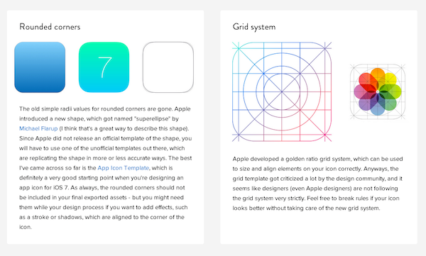 iOS7 design cheat sheet