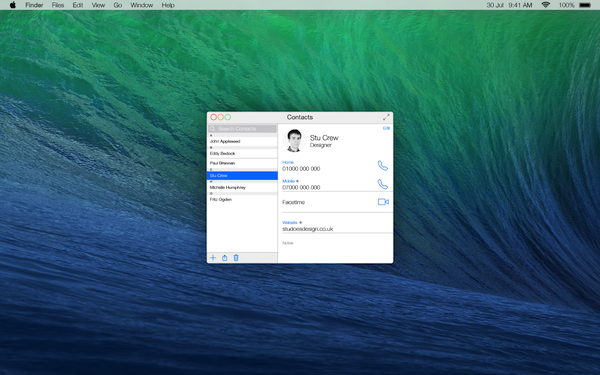 iOS 7にインスパイアされたOS X