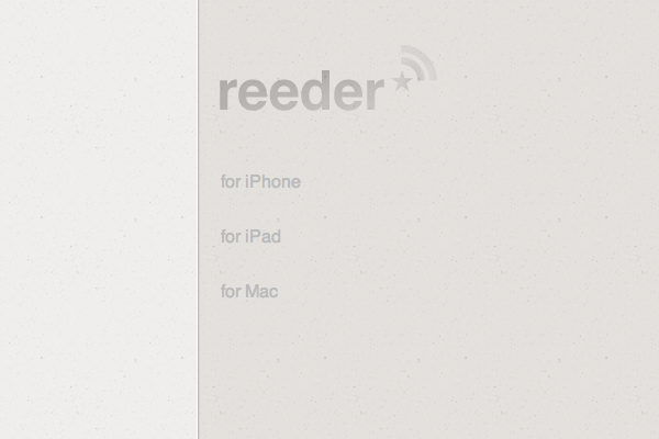 Reeder for mac and ipad