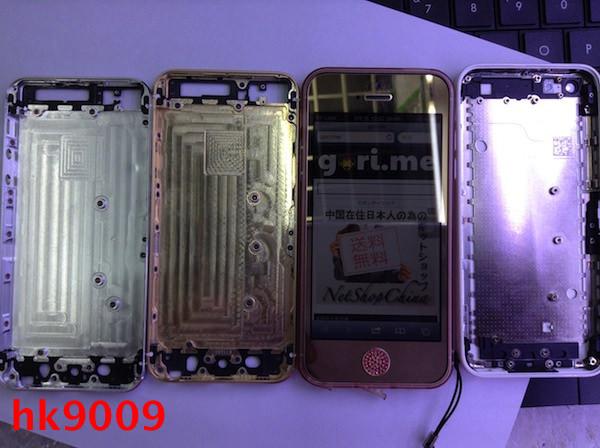 「iPhone 5s」「iPhone 5c」「iPhone 5の比較写真