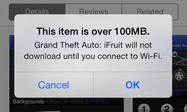 100mb apple app store