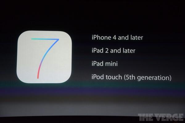 iOS 7正式リリース