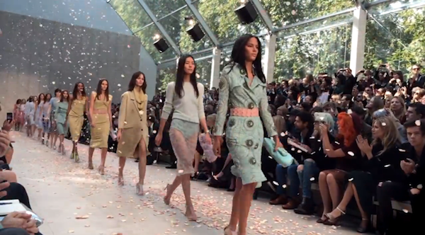 Burberry show shot with iphone5s