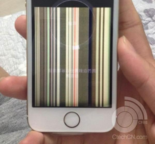 iPhone 5sのディスプレイ不具合