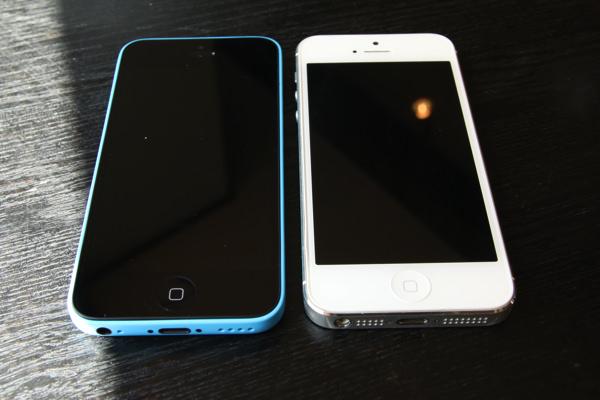 iPhone5c/iPhone5の比較