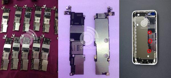 iPhone 5cのロジックボードらしき写真